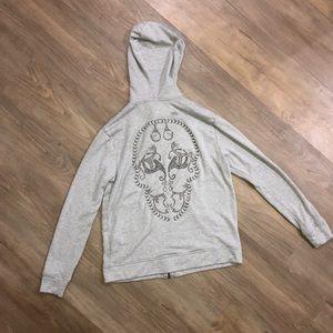 Thomas Wylde Extra Soft Zip-Up Jacket with Skull